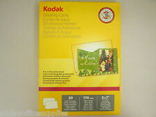 "Genuine Kodak Greetings Cards Pack 5740-017 Free Software Download 5x7"" 20PK"