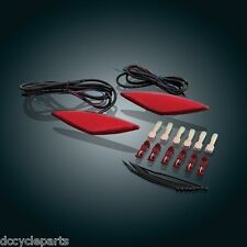 SHOW CHROME 41-161R  RED L.E.D. SADDLEBAG SIDE MARKER LIGHTS CAN AM SPYDER RT