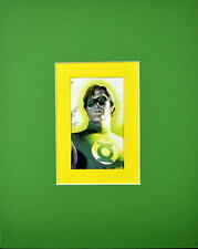 GREEN LANTERN PRINT PROFESSIONALLY MATTED Ross art