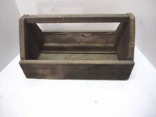 Vintage Handmade Wooden Carpenters Ship Builder Tool Carrier Tote Tray Caddy Box