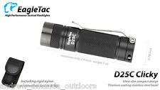 EagleTac D25C Clicky CREE XM-L2 LED Flashlight - 453 Lumens - Upgraded LED