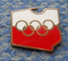 NOC POLAND OLYMPIC MONTREAL INNSBRUCK 1976 BIG VERSION ENAMEL PIN BADGE