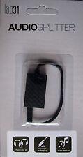 Stereo-Audio-Splitter 3.5 mm Klinkenstecker/Buchse 4-polig Farbe schwarz