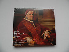 José de Nebra: Vespers of Confessors (2012) - CD - 11 Tracks - New & Sealed.