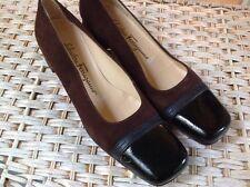 Salvatore Ferragamo Women's Shoes 8.5aa Brown Square Toe
