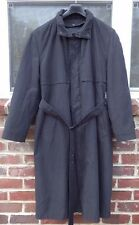 London Fog Men's Trench Rain Coat Removable Fleece Lining Soft Black 38 Reg EXC!