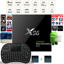 X96 S905X Quad Core TV BOX 2GB/16GB Android6.0 with FREE Keyboard