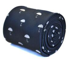 Blu Navy Cravatta Da Uomo con ombrello motivo FT2133 Molto Inglese Problemi