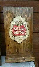 Stella artois  sign plaque  wooden  gift mancave shed bar pub bespoke handmade