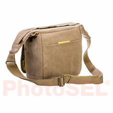PhotoSEL BG431Y Canvas Camera Shoulder Bag Sling Bag with Rain Cover - Khaki