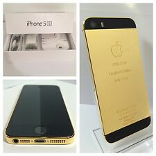 CUSTOM 24k GOLD iPhone 5s - 16GB - (Unlocked) w/box & accessories Metro Cricket