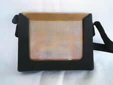 VINTAGE VANITY PURSE WITH POWDER, CIGARETTE, COMB, LIPSTICK & COIN PURSE  C 1950