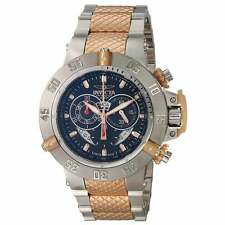 Invicta 80505 Men's Subaqua Black Dial Chrono Two Tone Steel Bracelet Watch