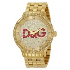NEW D&G DOLCE & GABBANA DW0377 GOLD PRIME TIME WATCH - 2 YEAR WARRANTY