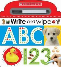 Write and Wipe ABC 123 by Inc. Staff Scholastic (2015, Board Book)