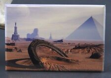 "Stargate and Giza - 2"" X 3"" Fridge Magnet. Pyramids Sphinx Ancient Aliens"