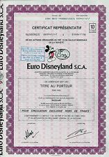 Euro Disneyland S.C.A, Paris, 1983 (10 Actions) + Coupons
