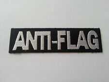 HEAVY METAL PUNK ROCK MUSIC SEW / IRON ON PATCH:- ANTI-FLAG (a) JUSTIN SANE
