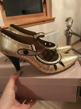 Miss Sixty Scarpe Con Tacco/scarpe taglia 4 (37) oro