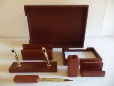 Wooden EFFECT  Desk Set; letter, pen hold, notepad, in-tray EC15060 SALE ON