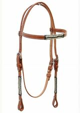 Western Natural Braided Set Of Head Stall/Reins/Breast Collar