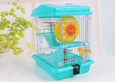 Large Hamster Cage Set Metal Mouse Nest  Iron wire Gerbil Rat House 3 Storey