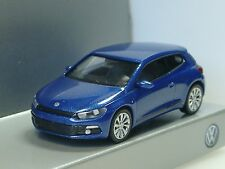 Wiking VW Scirocco blau-metallic, dealer model - 1/87