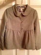JANIE and JACK size 6 WOOL JACKET coat  CLASSIC elegant peter pan collar  button