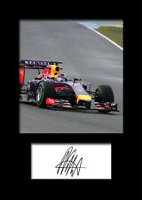 SEBASTIAN VETTEL #1 Signed Photo Print A5 Mounted Photo Print - FREE DELIVERY