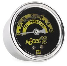 Accel Oil Pressure Gauge For Harley-Davidson - Liquid Filled - 0-60 PSI 7121A