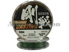 Gosen W8 Casting 8 Braid (Ply) 14lb/150m Braided Fishing Line (Green)