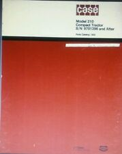 Case 210 Compact Lawn & Garden Tractor Parts Manual 68pg 1976 s/n 9701396-up