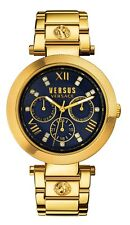 Versus By Versace Women's SCA040016 Camden Market Day/Date Gold IP Steel Watch