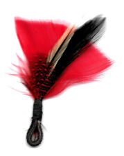 FEATHER MOTIF - RED/BLACK - 4 1/2""