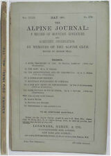 1907 ALPINE JOURNAL 176 A RECORD OF MOUNTAIN ADVENTURE  & SCIENTIFIC OBSERVATION