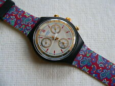 1992 Swatch Watch Chronograph Award SCB108 band is straight