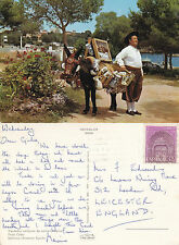 1980's A TYPICAL CERAMIC SELLER MALLORCA SPAIN COLOUR POSTCARD