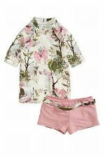 Next Girls Multi Butterfly Sunsafe Two 2 Piece UV 50+ Sun Suit Swimsuit/11 Years