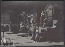 MODERN RAILWAY POSTCARD - Women Cleaning Locos at Kentish Town. August 1943