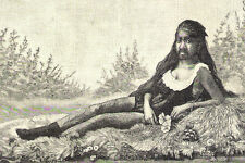 MONKEY GIRL KRAO PINUP Germany AT CASTANS FREAK MUSEUM Rare 1880s HAIRY & RISQUE