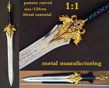 WOW World of warcraft Lane the king sword 1:1 Full Metal weapon Cosplay props