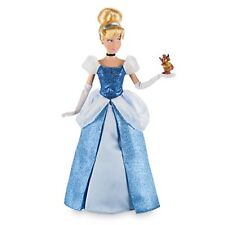 """PRINCESS CINDERELLA & GUS Classic Doll Mouse Toy Action Figure 12"""" Disney Store"""