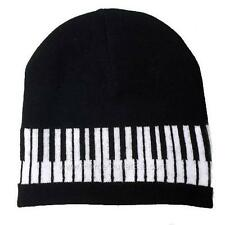 Music Notes/Piano Knit Beanie Cap Winter Ski Snow Board Toque Tuque Unisex Women