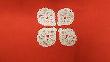 White, Guipure Lace,Applique, Trimmings,Wedding-Heart Motifs x 4 (3cm x 4cm)