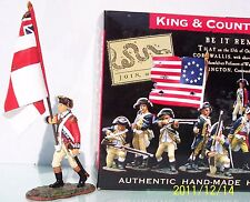 KING & COUNTRY BRITISH REVOLUTIONARY BR036 MARCHING OFFICER REGIMENTAL FLAG MIB