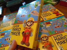SUPER MARIO MAKER NINTENDO WII U NEW US VERSION NEVER USED  with Idea Book