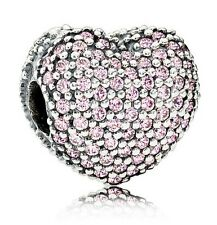 Pandora Pink Pave Open My Heart Clip Charm - 791427PCZ