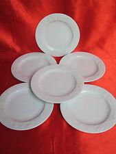 6 assiettes à pain porcelaine LIMOGES P DESHOULIERES PROMENADE décor floral
