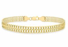 9ct Yellow Gold Figure 8 Double Curb Chain Bracelet 19cm / 7.5 inch
