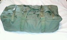 US MILITARY ISSUE IMPROVED DUFFLE BAG WITH ZIPPER AND BACKSTRAPS  ARMY SURPLUS